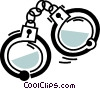 Vector Clip Art picture  of a Handcuffs and Leg Irons