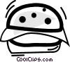 Vector Clip Art graphic  of a Hamburgers