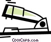 Vector Clip Art graphic  of a Staplers