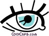 Eyes Vector Clip Art graphic
