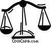 Vector Clip Art graphic  of a Scales of Justice