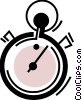 Vector Clipart graphic  of a Stopwatches
