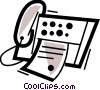 Fax Machines Vector Clipart picture