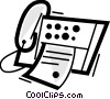 Vector Clipart graphic  of a Fax Machines