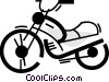 Vector Clipart picture  of a Dirt Bikes