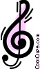 Vector Clip Art graphic  of a Musical Notation