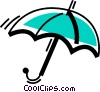 Vector Clipart image  of a Umbrellas