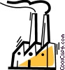 Factories and Refineries Vector Clip Art image