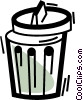 Vector Clip Art picture  of a Garbage Waste Trash