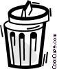 Vector Clip Art image  of a Garbage Waste Trash