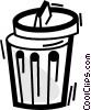 Garbage Waste Trash Vector Clipart illustration