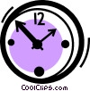 Vector Clip Art image  of a Wall Clocks