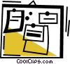 Vector Clip Art image  of a Bulletin Boards