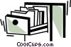 Vector Clipart graphic  of a Filing Cabinets