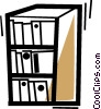 Vector Clipart graphic  of a Bookshelves