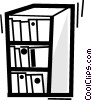 Vector Clipart picture  of a Bookshelves