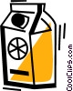 Vector Clip Art graphic  of a Orange Juice