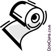 Vector Clipart picture  of a Toilet Paper
