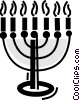 Menorahs Vector Clip Art graphic