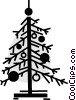 Christmas Trees Vector Clipart picture