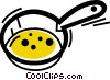 Vector Clip Art picture  of a Frying Pans