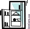 Vector Clip Art graphic  of a Fridges or Refrigerators