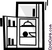 Vector Clipart illustration  of a Fridges or Refrigerators