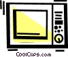 Vector Clipart illustration  of a Microwave Oven