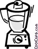 Mixers, Blenders, Food Processors Vector Clipart illustration