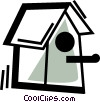 Vector Clipart picture  of a Bird Houses and Cages