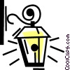 Vector Clipart image  of a Living Room Lights