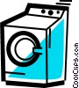 Vector Clipart graphic  of a Clothes Dryers