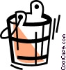 Vector Clip Art graphic  of a Mops and Pails