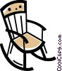 Vector Clipart graphic  of a Rocking Chairs