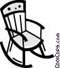 Rocking Chairs Vector Clipart illustration