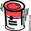 Vector Clip Art image  of a Canned Goods
