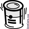 Vector Clip Art graphic  of a Canned Goods