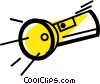 Vector Clipart graphic  of a Flashlights