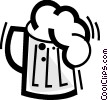 Vector Clip Art picture  of a Beer