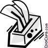 Vector Clip Art graphic  of a Kleenex Tissues