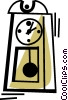Grandfather Clocks Vector Clipart graphic