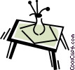 Vector Clip Art picture  of a Tables and Counters