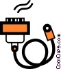 Vector Clipart graphic  of a Cables