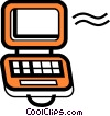 Vector Clipart graphic  of a Laptops and Notebook Computers