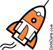 Vector Clipart picture  of a Rockets