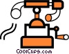 Vector Clip Art image  of an Antique Telephones