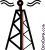 Vector Clipart illustration  of a Communication Towers