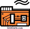 Vector Clip Art image  of a Computer Gear