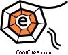 Vector Clip Art picture  of a Webs