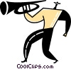Vector Clipart image  of a Trumpeters
